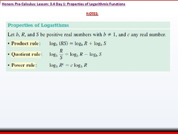 student: HPC: CU 4B: 3.4 Day 1: Properties of Logarithmic Functions