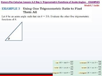 student: HPC: CU 5: 4.2 Day 1: Trigonometric Functions of Acute Angles