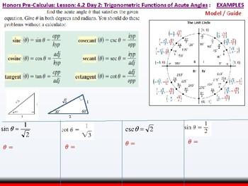 student: HPC: CU 5: 4.2 Day 2: Trigonometric Functions of Acute Angles