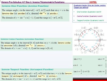 student: HPC: CU 6: 4.7 Day 1: Inverse Trigonometric Functions