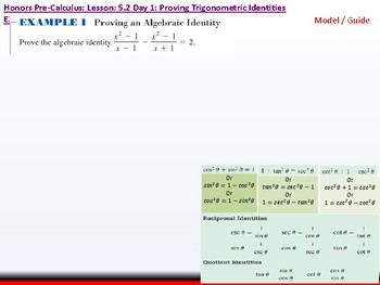 student: HPC: CU 7A: 5.2 Day 1: Proving Trigonometric Identities