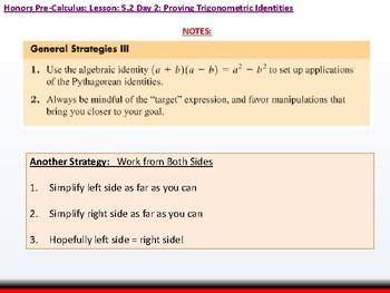 student: HPC: CU 7A: 5.2 Day 2: Proving Trigonometric Identities