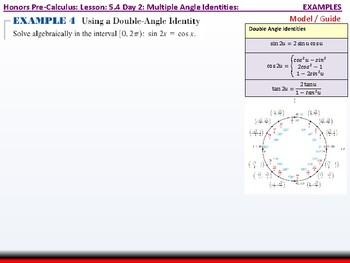 student: HPC: CU 7A: 5.4 Day 2: Multiple Angle Identities