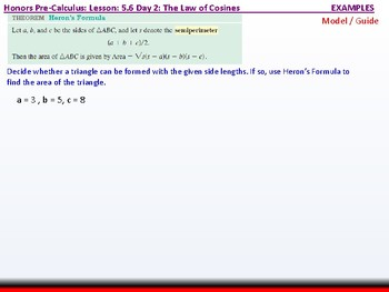 student: HPC: CU 7B: 5.6 Day 2: The Law of Cosines