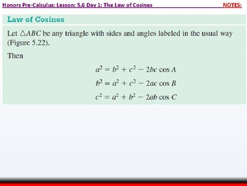 student: HPC: CU 7B: 5.6 Day 1: The Law of Cosines