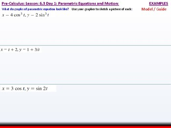 student: HPC: CU 9: 6.3 Day 1: Parametric Equations and Motion