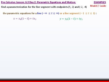 student: HPC: CU 9: 6.3 Day 2: Parametric Equations and Motion
