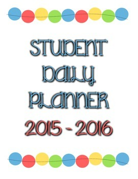 student daily planner 2015 - 2016
