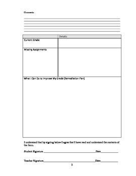 student progress review form