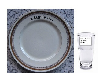 """students define """"family"""" on a dinner plate/talk about optimism"""