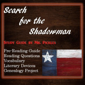 Search for the Shadowman lesson plans, study guide and reading questions