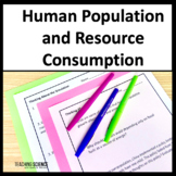 Human Population and Impact on Natural Resources NGSS MS ESS3-4