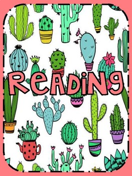 covers sheet for folders (fun cactus design) ONLY $1.00 classroom decor