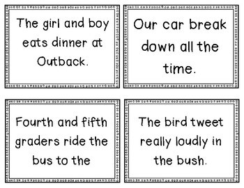 subject verb agreement sort