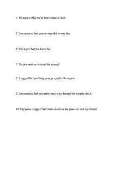subjunctive conjugation practice (realidades 2, 8A)