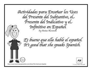 subjunctive, indicative and infinitive uses in spanish