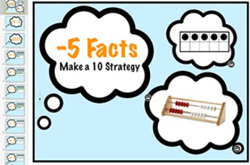 subtraction Fact Keynote: Minus 5 Strategy