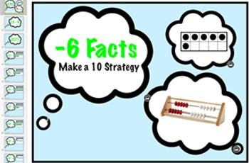 subtraction Fact Keynote: Minus 6 Strategy