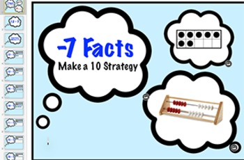 subtraction Fact Keynote: Minus 7 Strategy