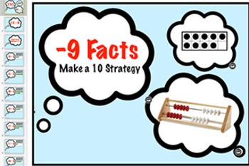 subtraction Fact Keynote: Minus 9 Strategy