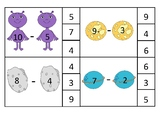subtraction count and clip cards