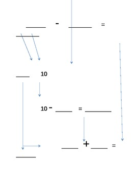 subtraction number bond template