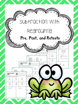 subtraction regrouping pretest, posttest, and retest