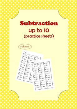 subtraction sheets within 10