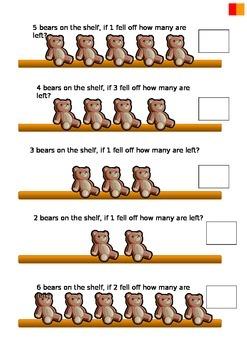 subtraction teddy bears
