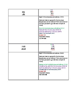 subtraction with zeroes