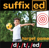 suffix ed multisensory target game (includes 60 practice words)