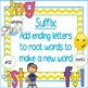 suffix, prefix and root word anchor charts and task cards