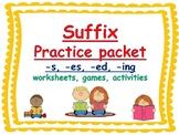 suffix -s, suffix -es, suffix, -ed, suffix -ing