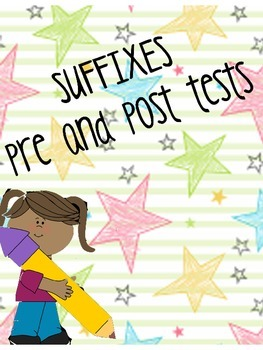 suffixes pre-post tests