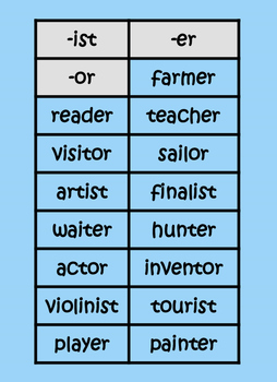suffixes sorts