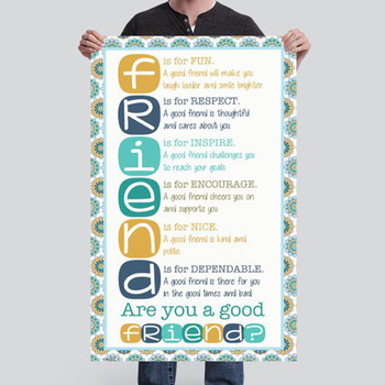 summer PAISLEY - Classroom Decor - BANNER - MED - Are You a Good Friend