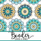 summer PAISLEY - Classroom Decor, BINDER covers - Teachers & Students, editable
