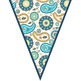 summer PAISLEY - Classroom Decor, Create a BANNER, flag, pennant - editable