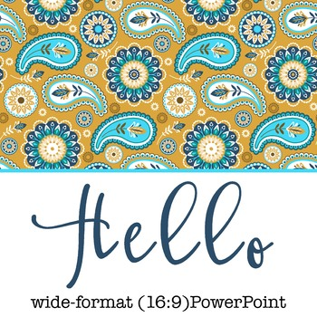 summer PAISLEY - Classroom Decor, PowerPoint, wide-format