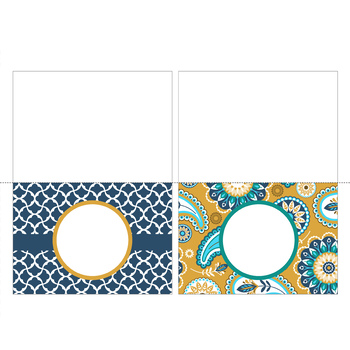 summer PAISLEY - Classroom Decor, Stationery, Note Cards, editable
