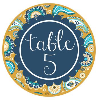 summer PAISLEY - Classroom Decor, TABLE Circle Signs, Word Wall, bulletin board