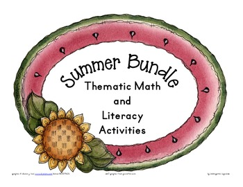 summer bundle: themed math and literacy activities
