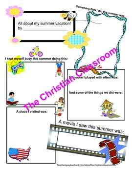 summer reflections packet and exploring summer through the five senses packet