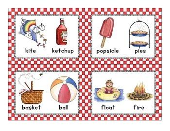 summer rhyme sort_picnic theme