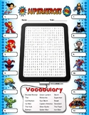 Superhero Word Search Activity