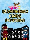 superhero class posters