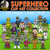 superhero clip art collection: ALPHABET AND NUMBERS... and much more!