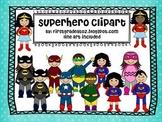 superhero clip art pack