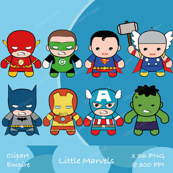 superhero clipart, superman clipart, batman clipart, flash clipart