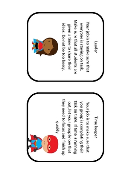 superhero jobs for cooperative learning groups